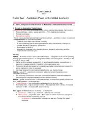 Eco T2 - Australia's place in the global economy(2)