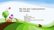 My Ola girl_oral report_visits with older adults_GERN 5000