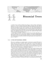 Chapter 11 Lecture on Binomial Tree Model