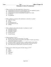 Chapter 18 Gilbert Practice Questionss