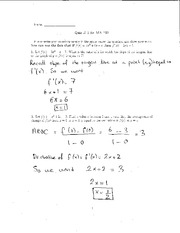 Quiz 3 Solution on Elementary Calculus