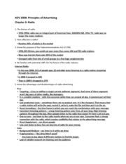 ADV 3008 Chapter 9 Study Guide
