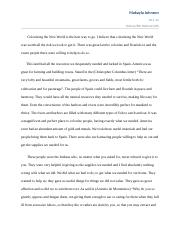 Colonizing the new world essay.docx