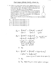 Exam 3 Solution Spring 2007 on Physics 1 Honors with Mechanics