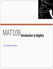 MAT109 Introduction to Algebra Live Chat 10.ppt