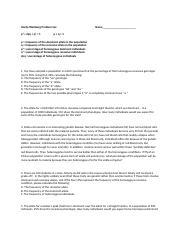 Hardy Weinberg Problem Set - Answer Key.docx - Name_Date ...
