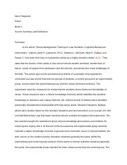 Paper 4: Source 2 Summary and Reaction.docx