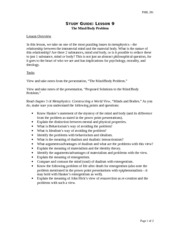 """phil 201 study guide lesson 10 Description: phil 201 db 2 view more phil 201 db 2  """" (lesson 2, pp 1,  we are forced to observe, study,."""
