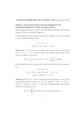 INITIAL AND BOUNDARY VALUE PROBLEMS OF SOME HYPERBOLIC TYPE OF EQUATIONS