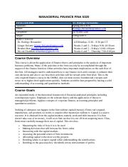 MANAGERIAL FINANCE FINA 5320 Syllabus SPRING 2016(1).pd
