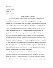 English 103 Short Story Analyses