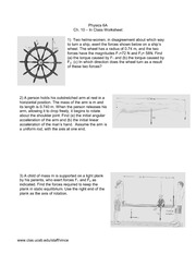 Physics 6A Ch10Worksheet