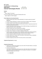 nt 1210 Topology worksheet (nt1210u2ho1) internet access submission requirements submit your responses on the topology worksheet at the beginning of the next class unit 2 assignment 2: computer basics review course objectives and learning outcomes.
