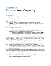 Chapter 14- Contractual Capacity.docx