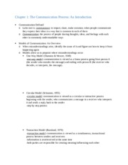 Chapter 1 Communications Notes