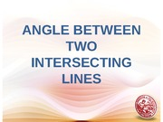 Lesson 3 - Angle Between Two Intersecting Lines