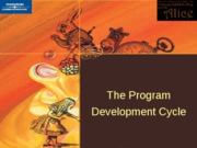 ch 2 Program Development Cycle