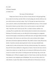 Personal Ancestry Essay