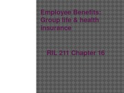 Chapter 16 - Group Life & Health (2)