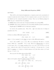 Lecture 1 Notes and Solution