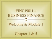 FINC19011 – BUSINESS FINANCE-Wk01