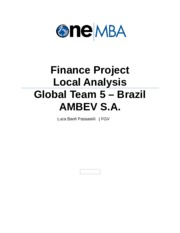 Global Team 5 - Local Analysis AMBEV v5