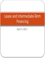 Ch 19 Lease and intermediate term financing