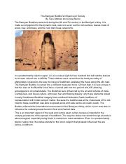The Bamiyan Buddha's Influence on Society.pdf