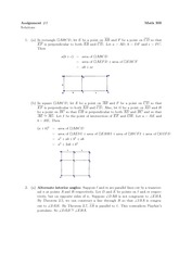 Math 300 Assignment #2 Solutions