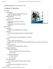 Chapter 2_ Methods - AP Psychology Chapter Outlines - Study