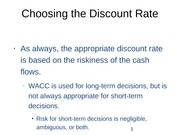 Choosing the Discount Rate