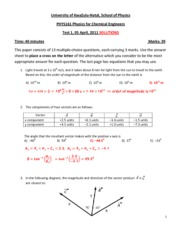 PHYS161 Test 1_2011_ Solutions