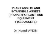Chapter 10 PLANT ASSETS AND INTANGIBLE ASSETS