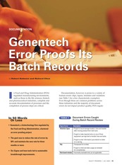 Reducing Errors in Batch Records with Six Sigma QP 07-2005