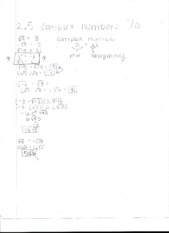 2.5 Complex Numbers Notes