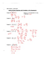 4.3 Rational Equations