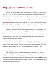 Copy of Impact of the Collapse of the Western Roman Empire Content.docx