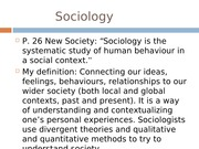 Week 1 (Sociology)