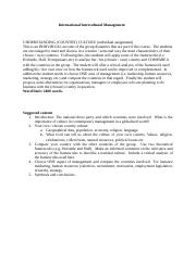 International Intercultural Management 2400 words assignment (1).docx