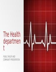 The Health department.pptx