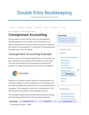 Consignment Accounting