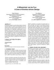 1cWC Emotion Driven Design