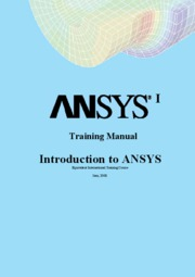 ansys-intro-training-manual