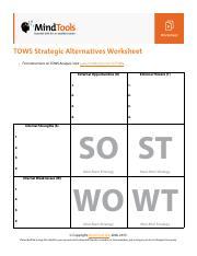 mckinsey 7s worksheet