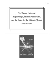 The Elegant Universe - Brian Green