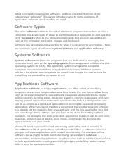 What is computer application software