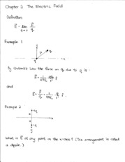 Chapter 2 Electric Field