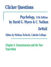 chapter 3 consciousness and the two track mind