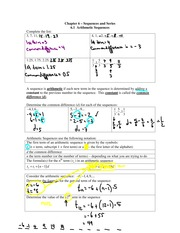 6.1 Arithmetic Sequences