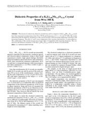 Dielectric properties of a K3Li1.88Nb5.12O15.24 crystal from 90 to 300 K